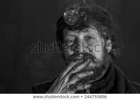 coal miner   portrait bw stock photo © lisafx