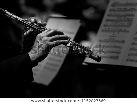 Flute player. Stock photo © oscarcwilliams