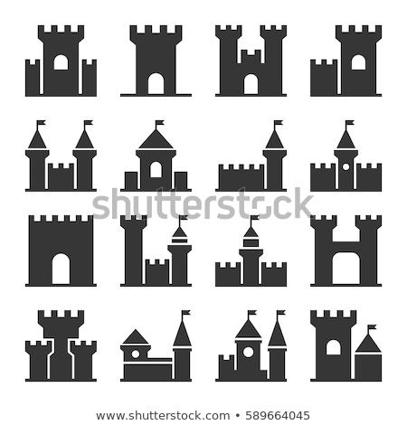 Set mittelalterlichen Symbole groß unterschiedlich Themen Stock foto © sharpner
