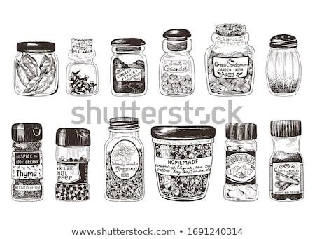 geheel · kardemom · geïsoleerd · witte · Spice - stockfoto © masha