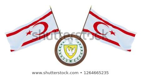 миниатюрный флаг Кипр изолированный Сток-фото © bosphorus