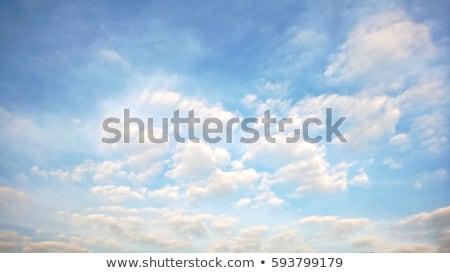 biały · puszysty · chmury · Błękitne · niebo · niebo · wiosną - zdjęcia stock © anna_om
