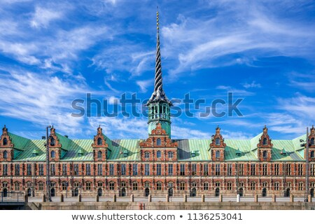 Copenhagen. Old Stock Exchange building Stock photo © Estea