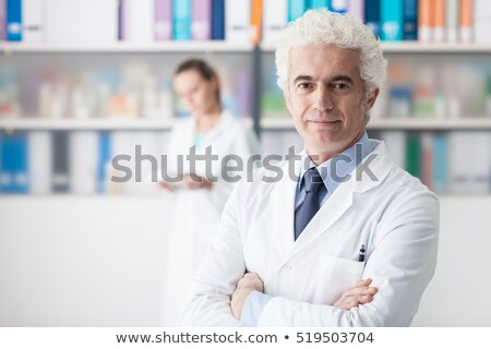 Doctor posing with his assistant Stock photo © photography33