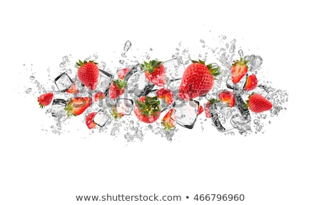Ice cube and strawberry isolated Stock photo © Givaga