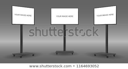 Hordozható tv fekete rádió izolált fehér Stock fotó © Taigi