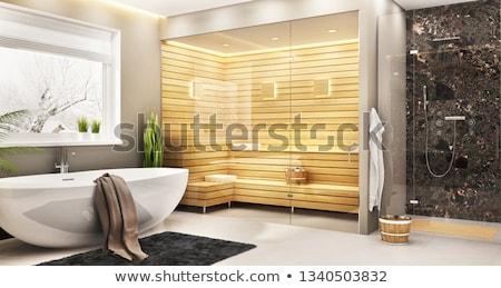 Сток-фото: роскошь · домой · сауна · комнату · интерьер · кедр