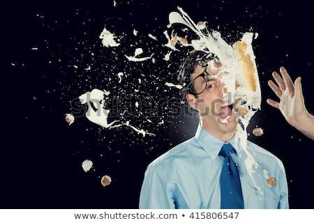 Vicces torta férfi vektor rajz buli Stock fotó © pcanzo