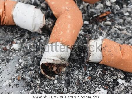 makró · három · cigaretta · hamutartó · szív · háttér - stock fotó © deymos