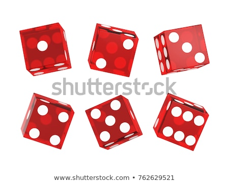 Dice on the red Stock photo © timbrk