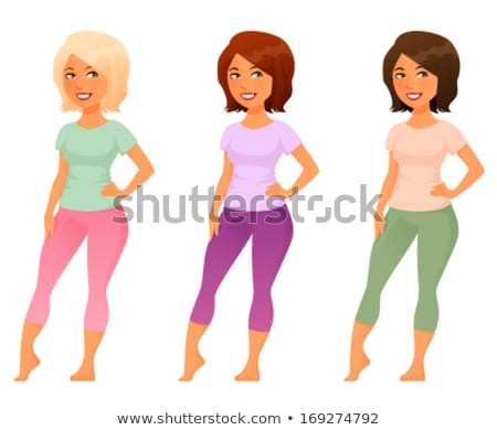 Beautiful curvaceous blonde woman Stock photo © dash