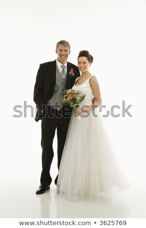 Colorful shot of a bride and groom Stock photo © get4net