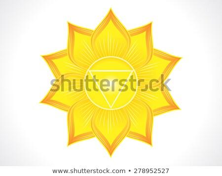 詳しい 太陽 チャクラ 水 オレンジ パターン ストックフォト © pathakdesigner