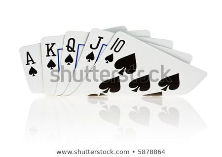 királyi · pikk · póker · zsetonok · pénz · jókedv · kaszinó - stock fotó © dacasdo