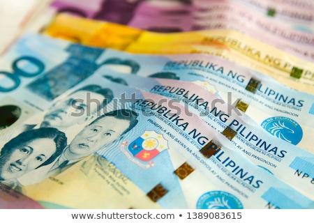 Filipinas um mil negócio dinheiro Foto stock © mtkang