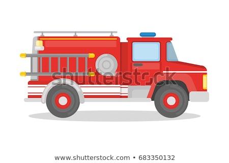 Wektora cartoon wóz strażacki eps10 format grup Zdjęcia stock © mechanik