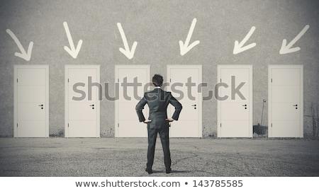 çoklu stratejileri iş seçenekleri simge merkezi Stok fotoğraf © Lightsource