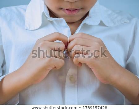 Asian Boy Fashionable shirt Stock photo © KMWPhotography
