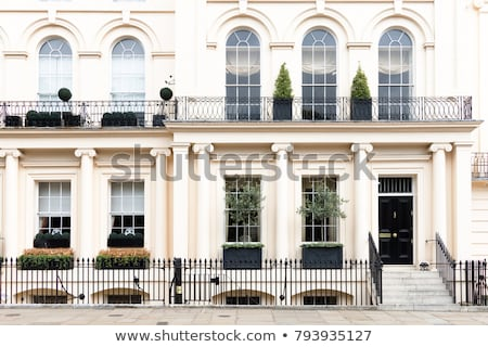 Row of victorian houses in London Stock photo © Hofmeester