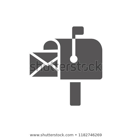 postar · caixa · serviço · postal · ícone · vetor · imagem - foto stock © zzve