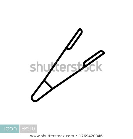 Vector icon tongs Stock photo © zzve
