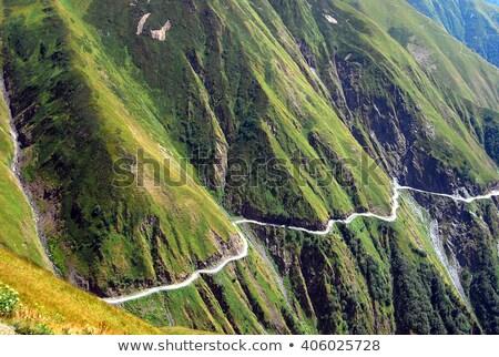 4x4 placa sinalizadora rota famoso montanha Foto stock © eldadcarin