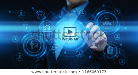 üzlet · online · oktatás · felirat · kék · internet - stock fotó © tashatuvango