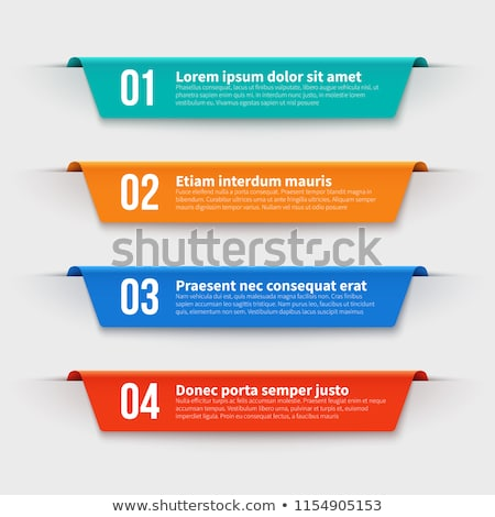 Set of Colourful Option Labels and Tabs Template Stock photo © matt_post