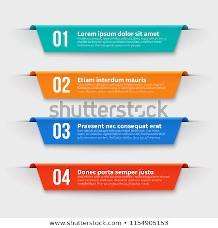 ayarlamak · renkli · seçenek · etiketler · şablon · seçenekleri - stok fotoğraf © matt_post