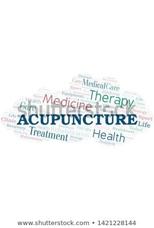 acupunctuur · medische · woord · Rood · kleur - stockfoto © tashatuvango