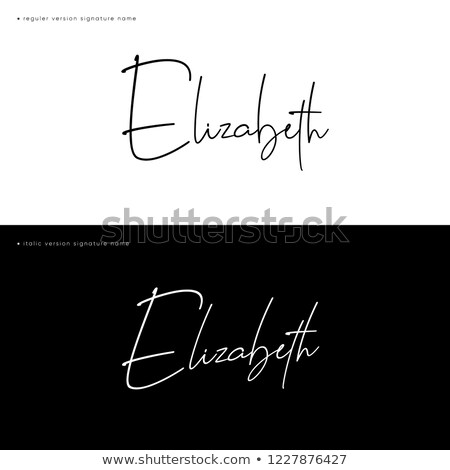 elizabeth i signature stock photo © snapshot