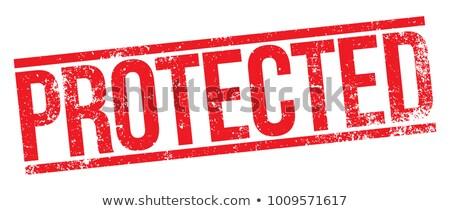 Protegido carimbo branco negócio vermelho Foto stock © chrisdorney
