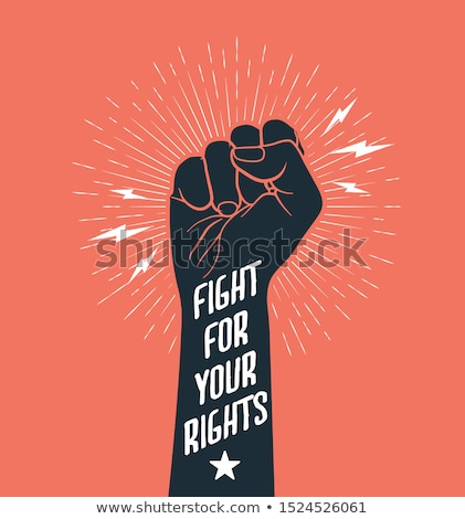революция кулаком высокий протест эскиз иллюстрация Сток-фото © drizzd