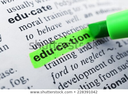Education dictionary entry. Stock photo © iofoto