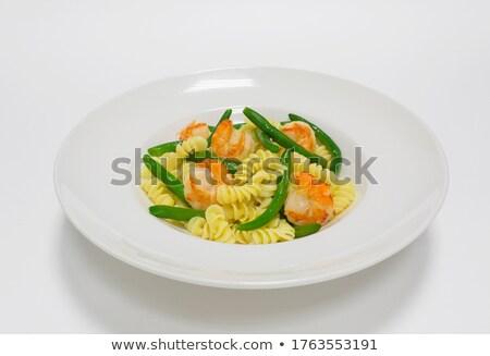 Foto stock: Italiano · macarrão · corda · feijões · queijo · temperos