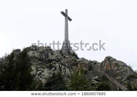 Dolinie Madryt Hiszpania krzyż ogród wojny Zdjęcia stock © Bertl123