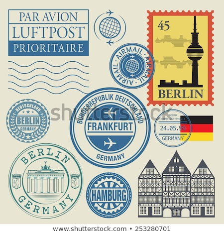 Post sello Alemania impreso arte carta Foto stock © Taigi