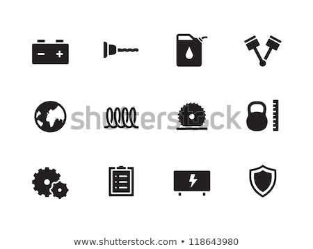 Vector icon shield and knife Stock photo © zzve