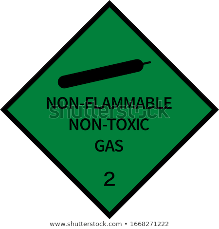 Danger sign non flammable gas Stock photo © Ustofre9