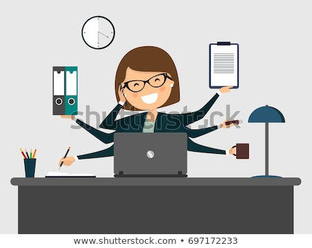 A busy secretary. Stock photo © photography33