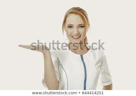 enfermeira · indicação · cópia · espaço · asiático · branco - foto stock © ra2studio