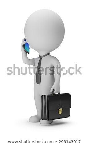 The 3D little man with phone. stock photo © karelin721