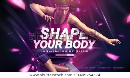 Fitness zumba szkolenia treningu siłowni młodych ludzi Zdjęcia stock © Kzenon