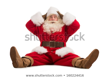 Hilarious and funny Santa Claus confused while sitting  Stock photo © HASLOO