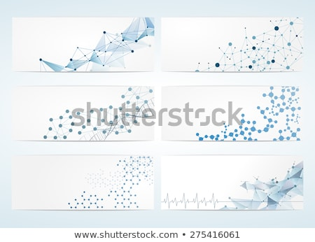 Hersenen geometrisch patroon vector abstract Blauw Stockfoto © beaubelle