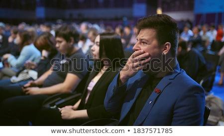 słuchania · młody · człowiek · słuchanie · muzyki · odizolowany · biały · twarz - zdjęcia stock © filipw