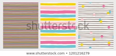 赤 · 白 · 水平な · 縞模様の · 水玉模様 · シームレス - ストックフォト © creative_stock