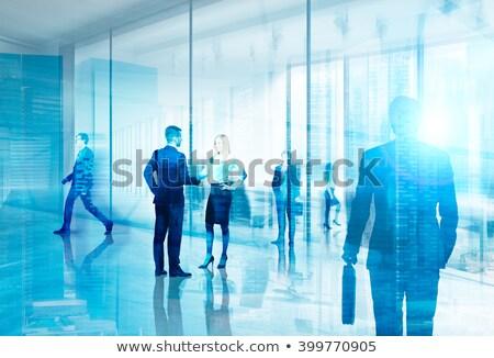negócio · trabalhando · equipe · dois · parceiros · de · negócios · sessão - foto stock © stockyimages