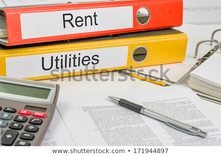 Folders with the label Rent and Utilities Stock photo © Zerbor