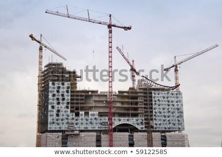 Construction site of the Elbphilharmonie in the port of Hamburg  Stock photo © meinzahn